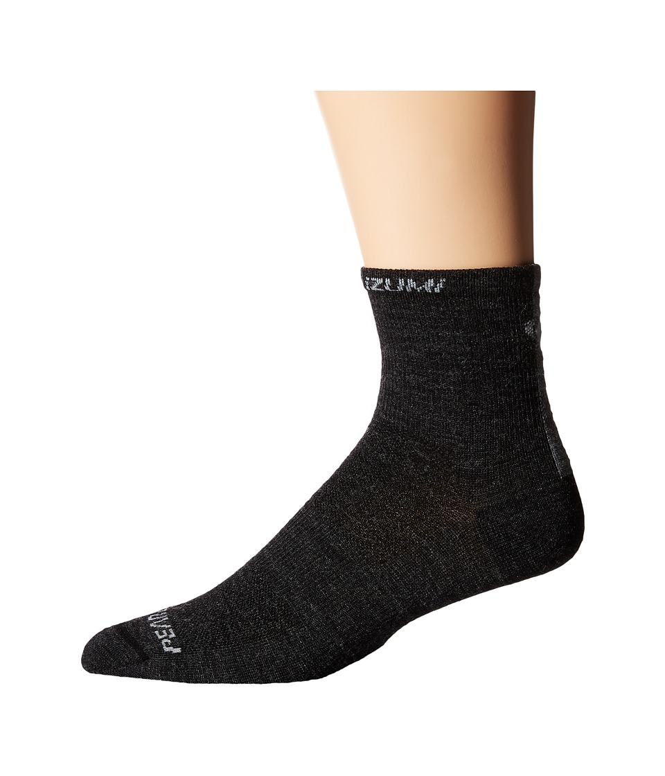 Pearl Izumi Elite Wool Sock Black Mens Crew Cut Socks Shoes