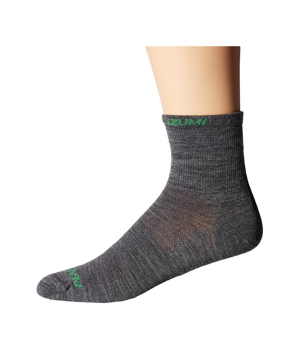 Pearl Izumi Elite Wool Sock Shadow Grey Mens Crew Cut Socks Shoes