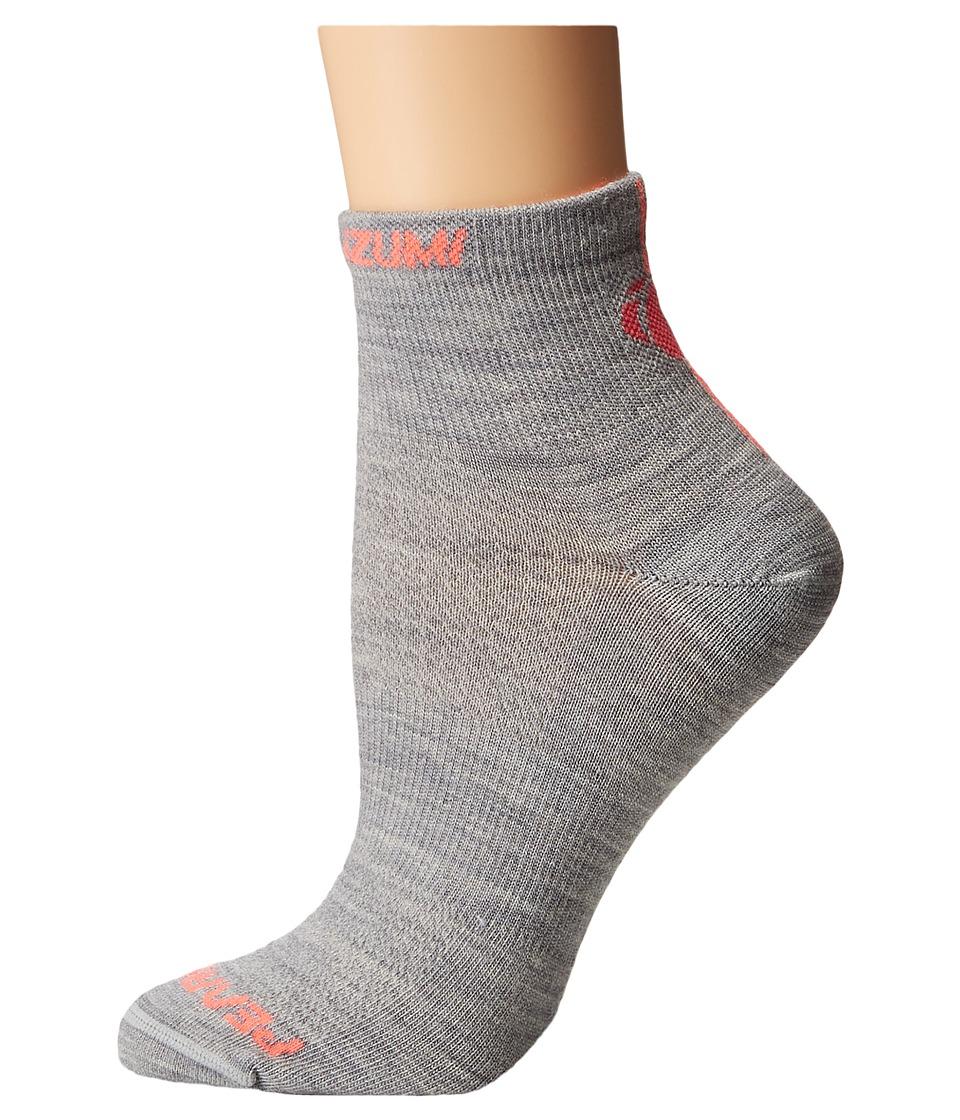 Pearl Izumi Elite Wool Sock Limestone Womens Crew Cut Socks Shoes