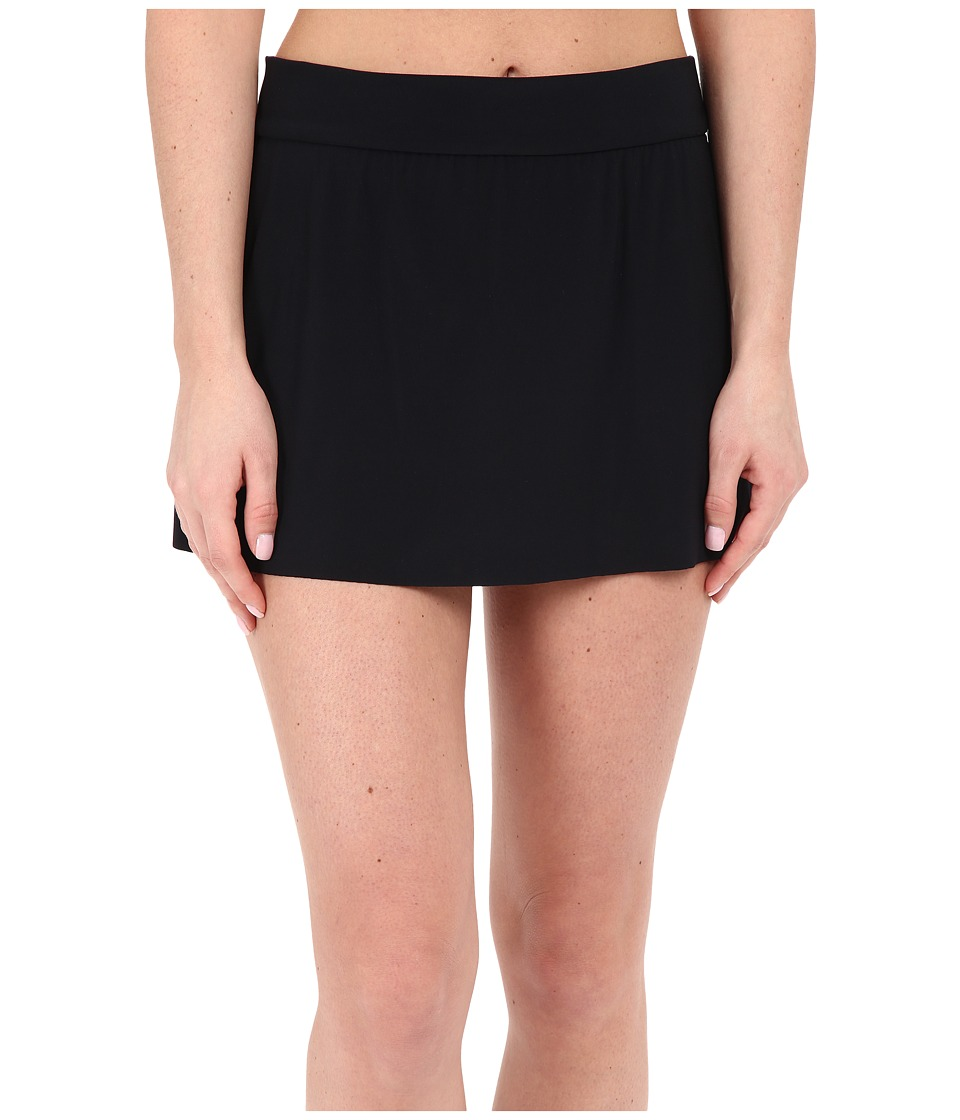 Magicsuit Jersey Tennis Skirt Bottoms Black Womens Swimwear