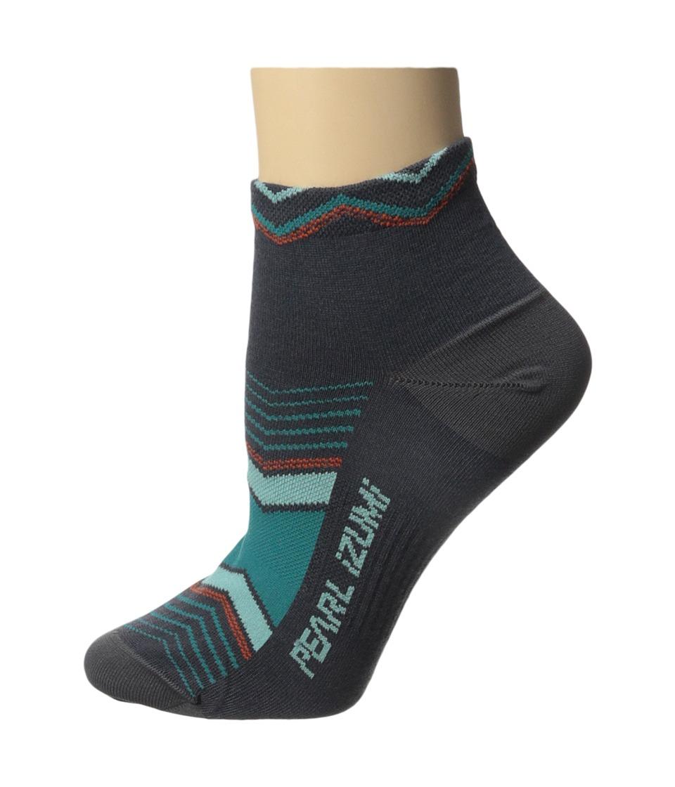 Pearl Izumi W Elite Low Sock Chevrons Viridian Green Womens Low Cut Socks Shoes