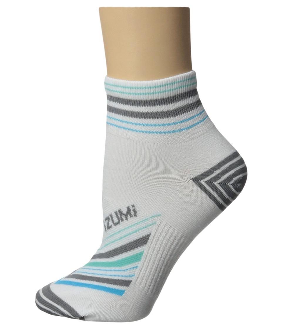 Pearl Izumi W Elite Sock Strip Stripe Grey Womens Crew Cut Socks Shoes