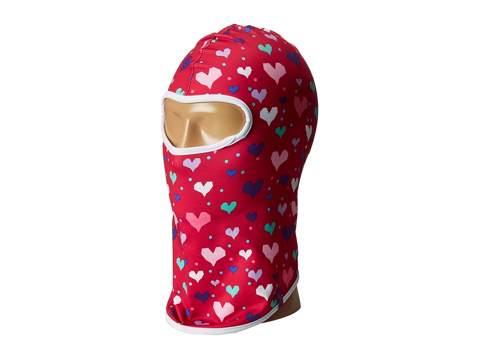 BULA - Kids Wonder Printed Balaclava (Big Kid) (Heart Pink) Beanies