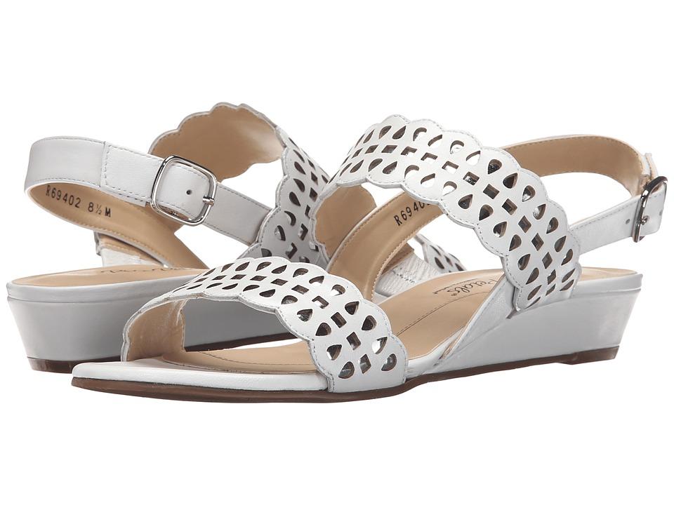 Rose Petals Jolie White Nappa Womens Sandals