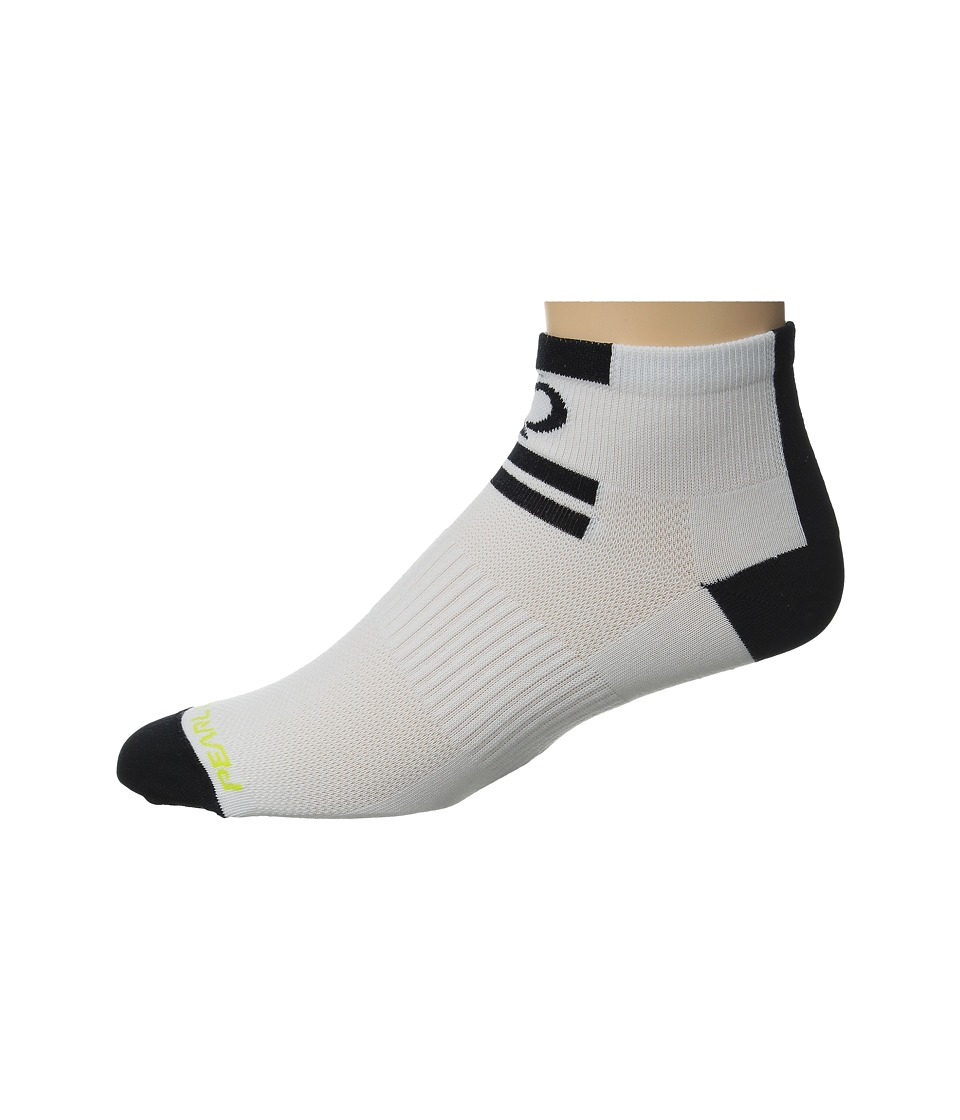 Pearl Izumi Elite Low Sock Core White Mens Crew Cut Socks Shoes
