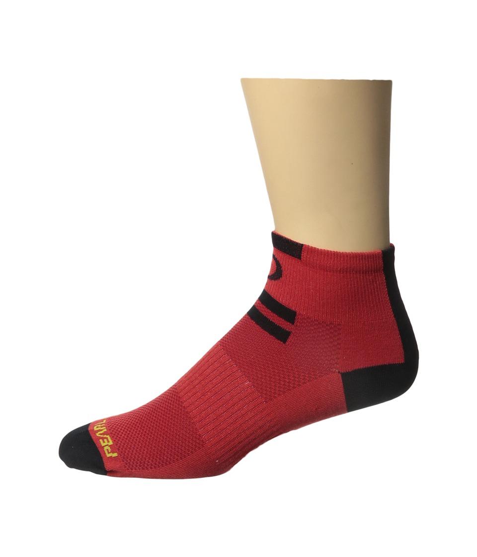 Pearl Izumi Elite Low Sock Red Mens Crew Cut Socks Shoes