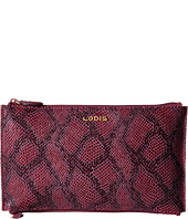 Lodis Accessories - Party Python Lani Double Zip Pouch