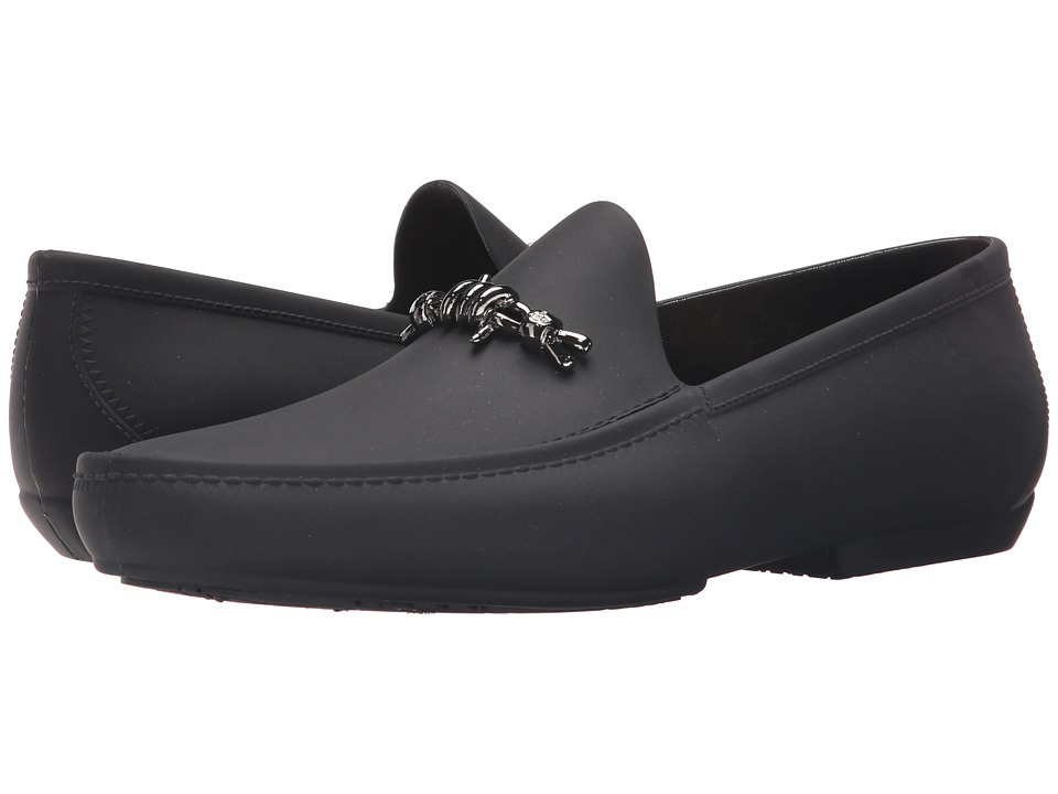 Vivienne Westwood Barbed Wire Moccasin Black Mens Slip on Shoes