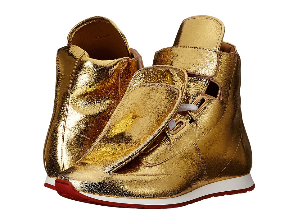 Vivienne Westwood 3 Tongue Trainer Gold Mens Shoes