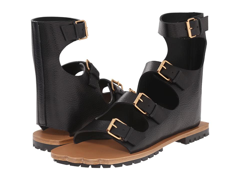 Vivienne Westwood - Animal Toe 4-Strap Sandal (Dark Grey) Men