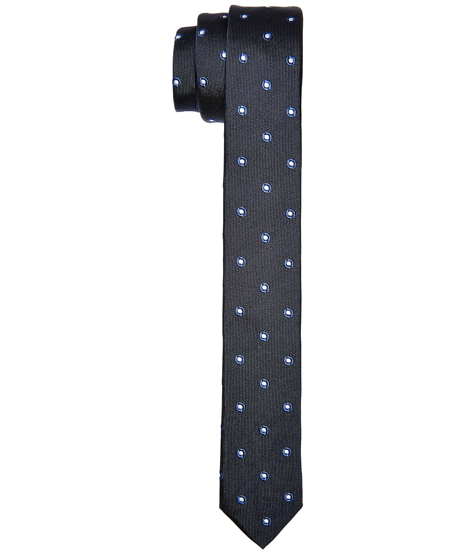 Dolce amp Gabbana Patterend Polka Dot Silk Narrow Tie Navy/Ivory Polka Dot Print Ties