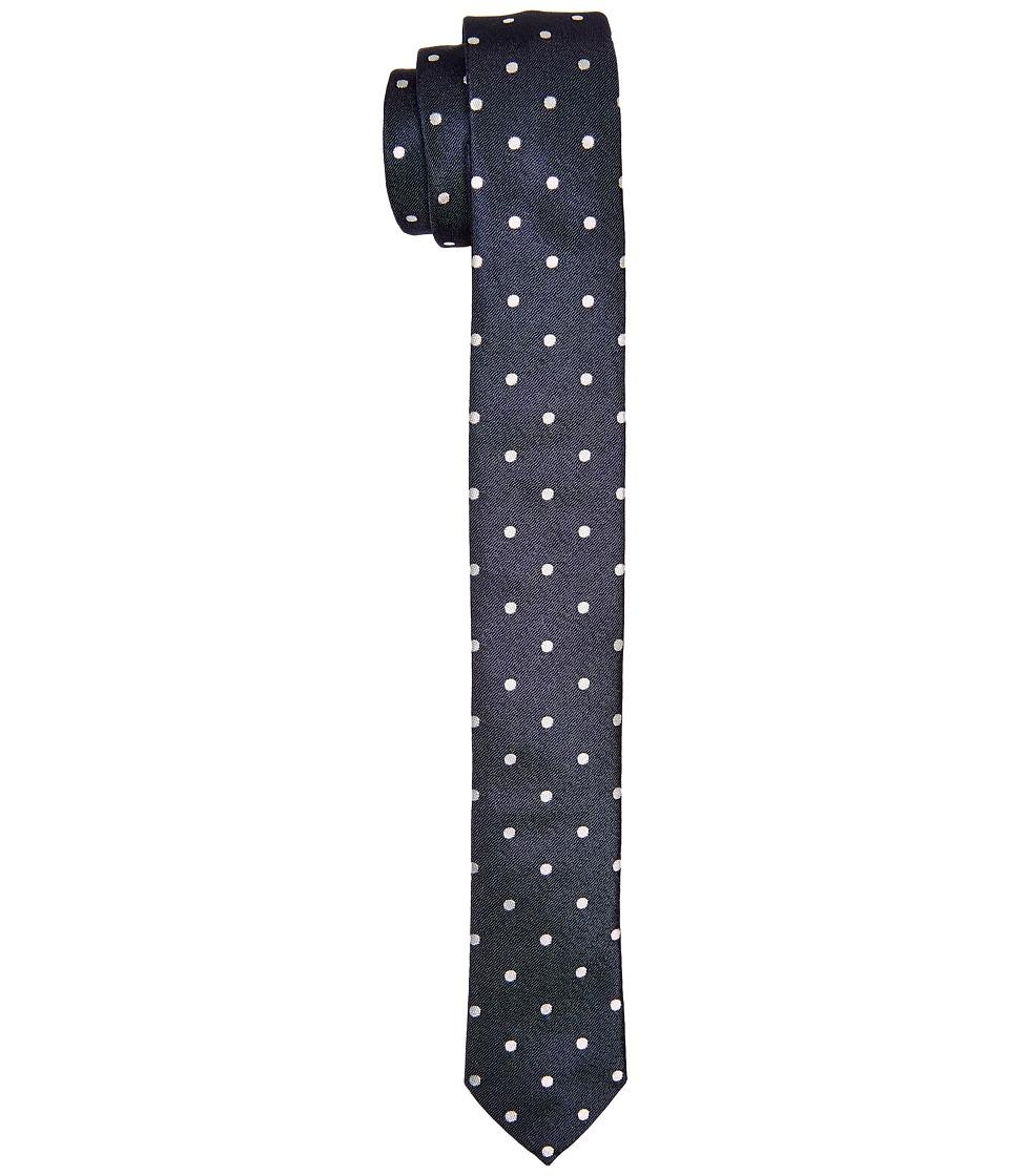 Dolce amp Gabbana Polka Dot Silk Tie Navy/Ivory Polka Dot Print Ties