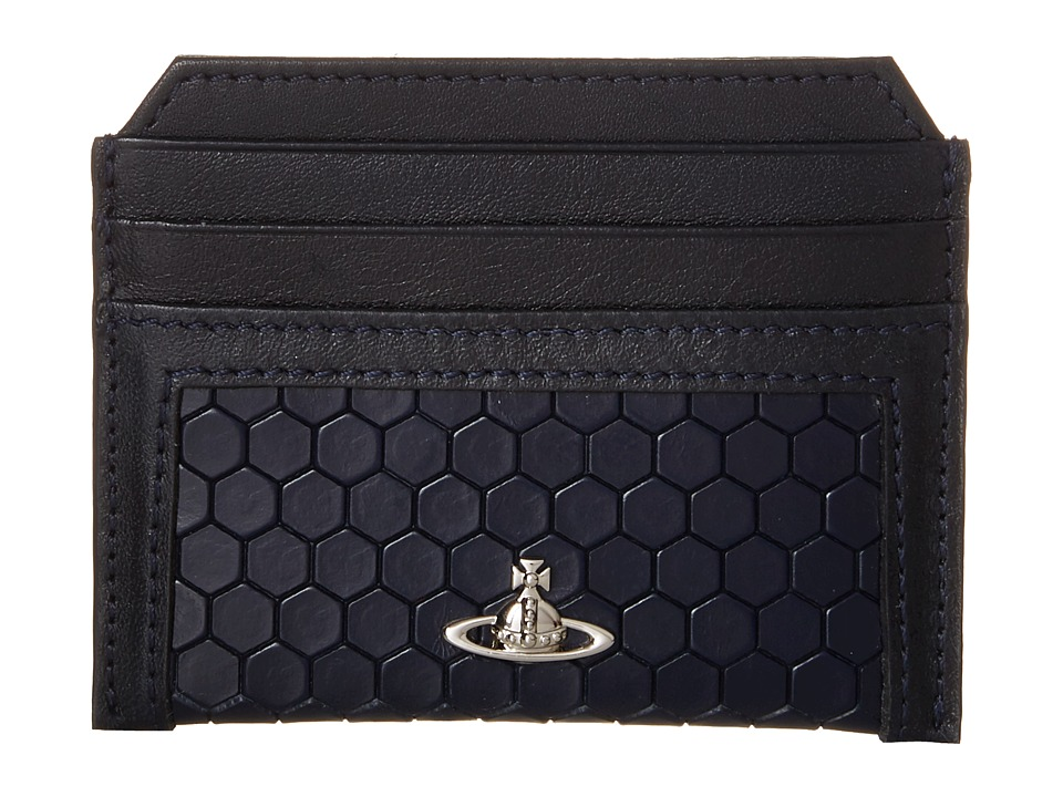 Vivienne Westwood Cronos Card Holder Blue Credit card Wallet