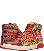 Etro - Paisley Leather Toe Hi-Top