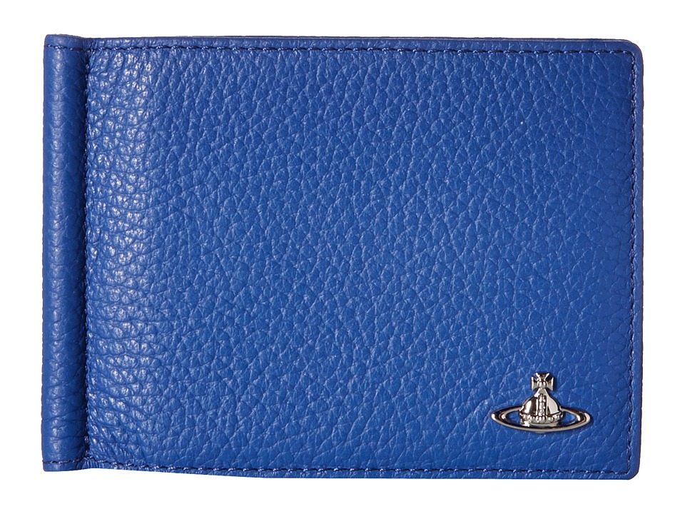 Vivienne Westwood - Leather Money Clip Wallet (Blue) Wallet Handbags