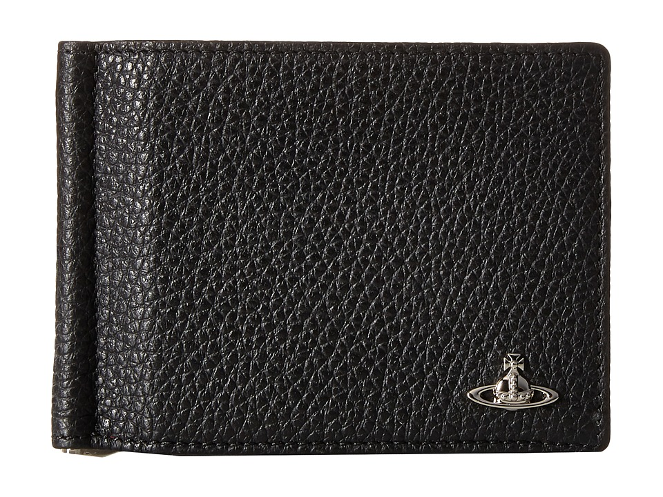 Vivienne Westwood - Leather Money Clip Wallet (Black) Wallet Handbags