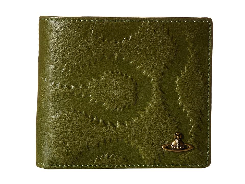 Vivienne Westwood - Squiggle Wallet (Green) Wallet Handbags