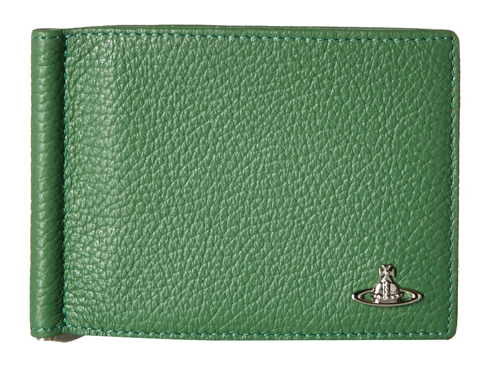 Vivienne Westwood - Leather Money Clip Wallet (Green) Wallet Handbags
