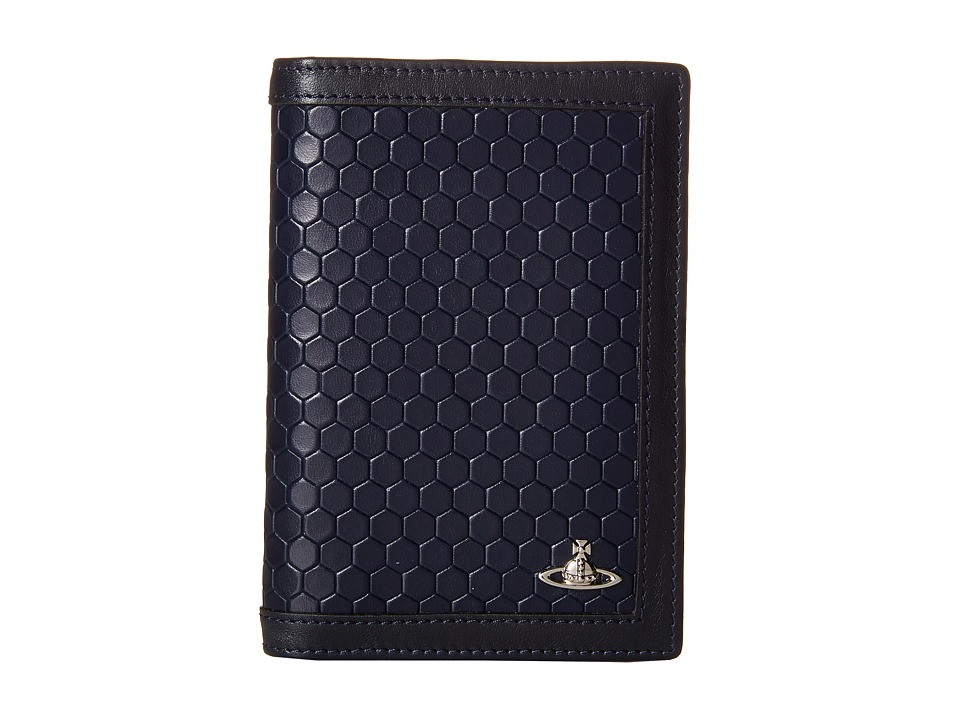 Vivienne Westwood - Cronos Passport Holder (Blue) Wallet Handbags