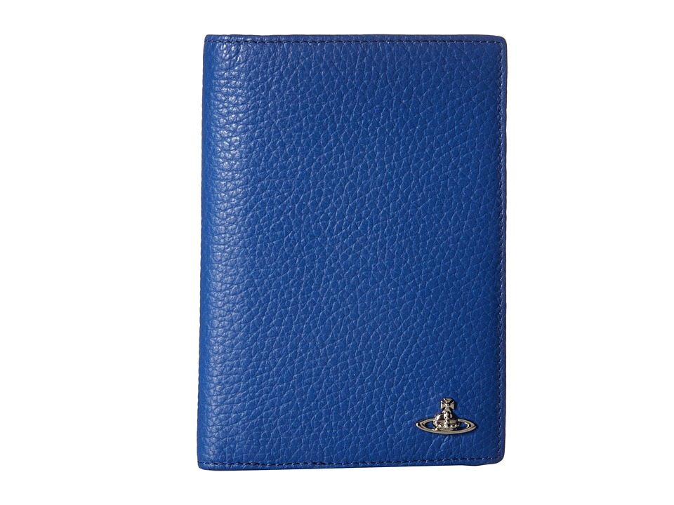 Vivienne Westwood - Leather Passport Holder (Blue) Wallet Handbags
