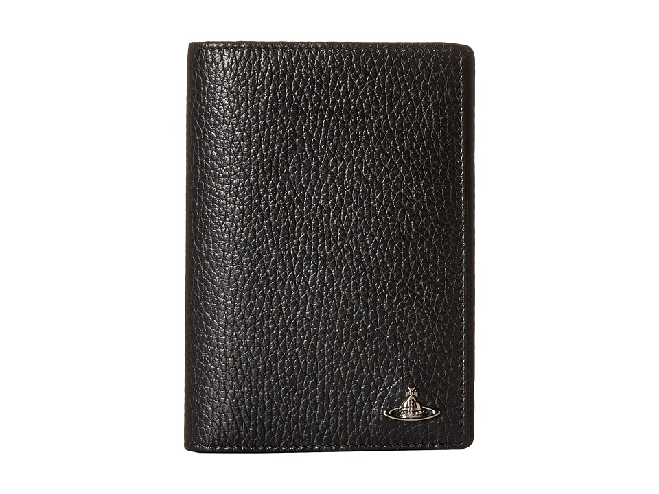 Vivienne Westwood - Leather Passport Holder (Black) Wallet Handbags