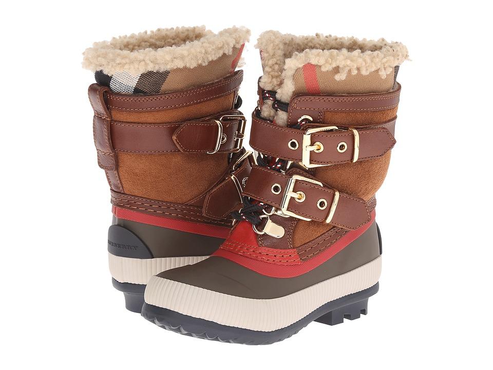 Burberry Kids K1 Mini Windmere Toddler/Little Kid House Check Khaki Kids Shoes