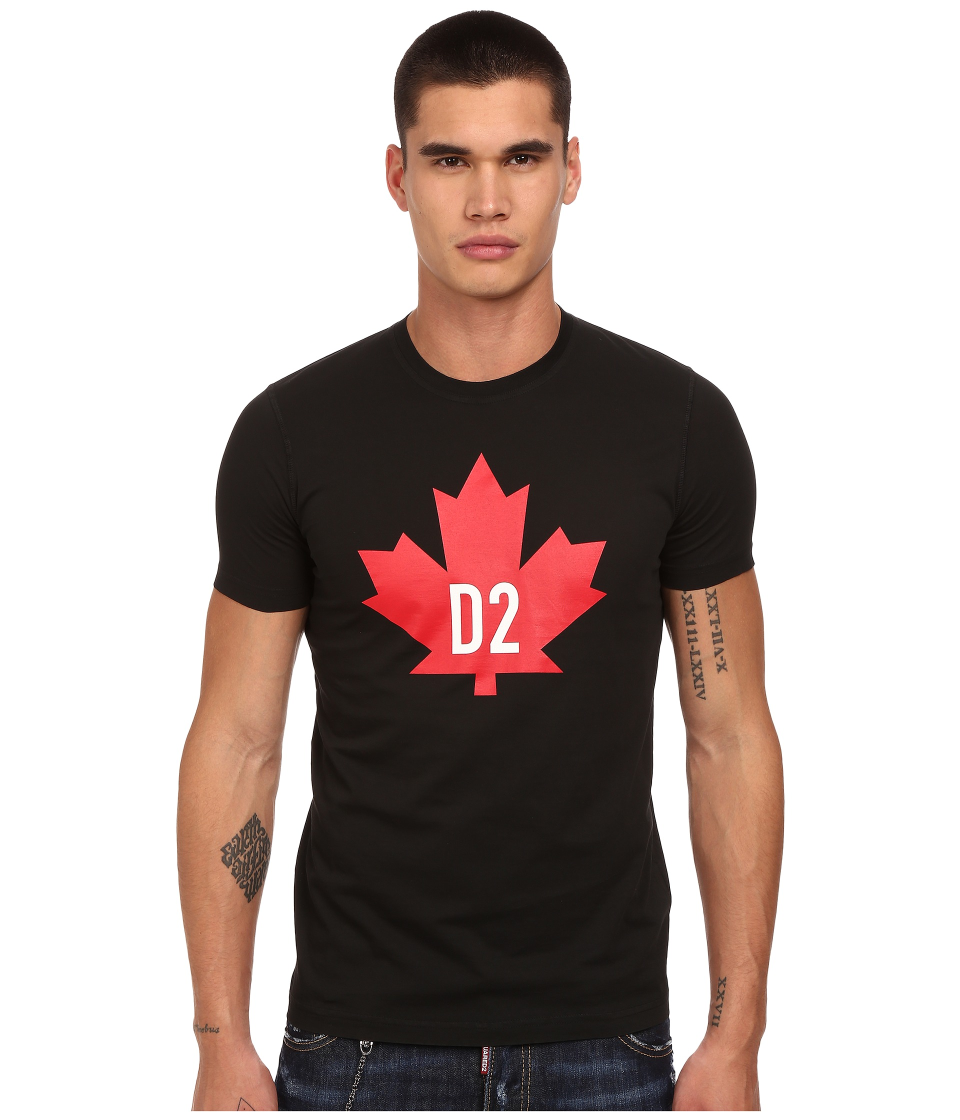 dsquared2 maple leaf d2 classic fit t shirt free shipping both ways. Black Bedroom Furniture Sets. Home Design Ideas