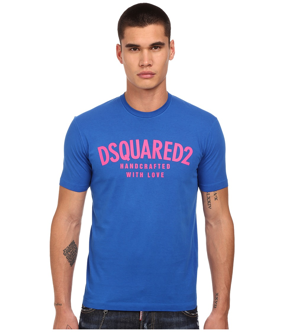 DSQUARED2 Handcrafted with Love T Shirt Blue Mens T Shirt