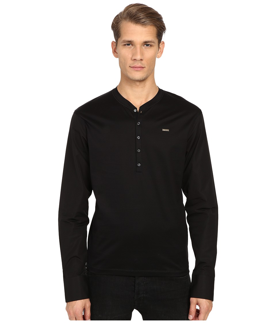 DSQUARED2 - Tight Fitting Henley (Black) Men