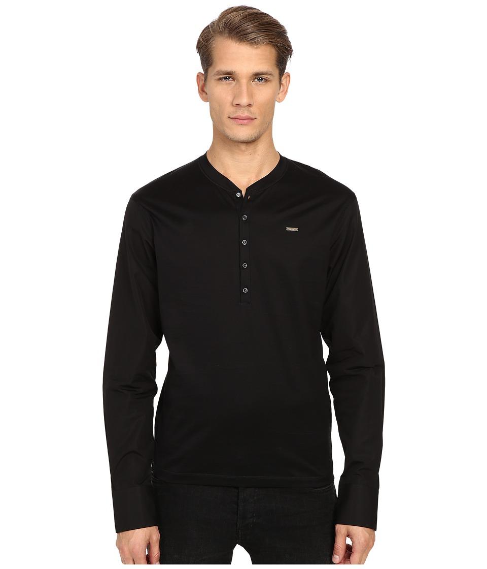 DSQUARED2 - Tight Fitting Henley (Black) Men