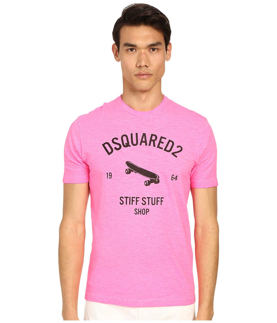 DSQUARED2 - Stiff Stuff T-Shirt (Pink Flourescent) Men