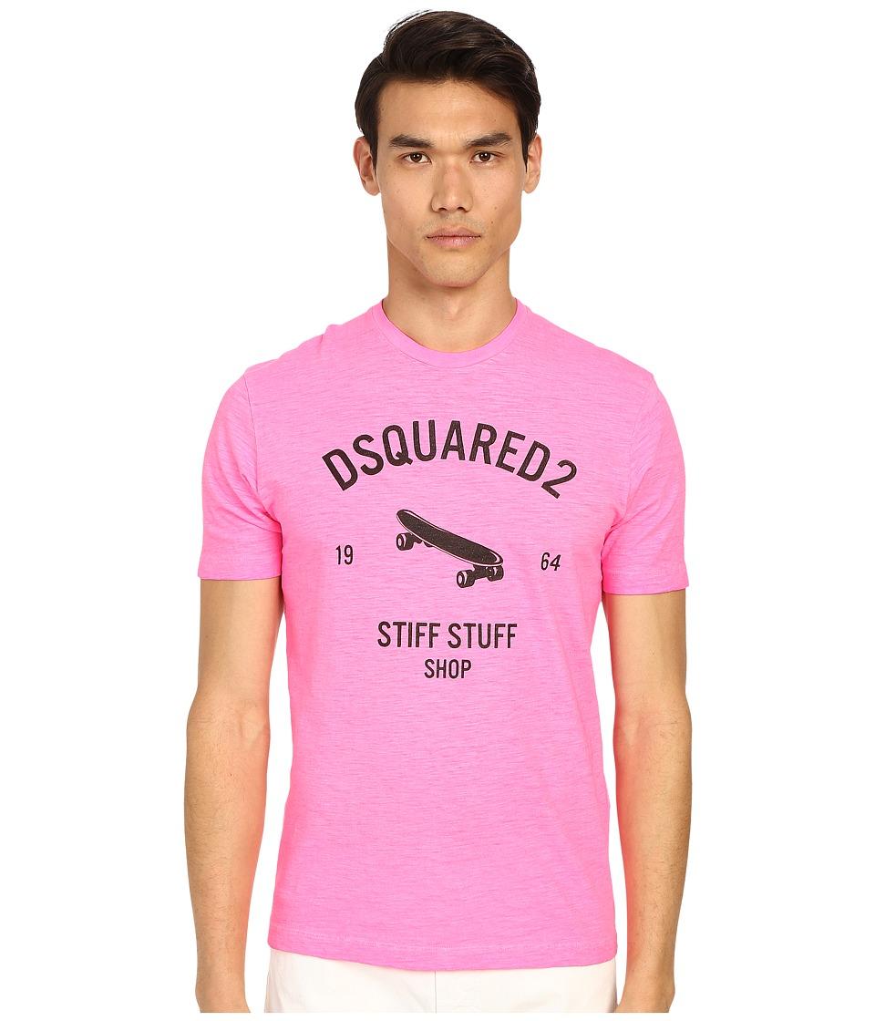DSQUARED2 - Stiff Stuff T-Shirt (Pink Flourescent) Men