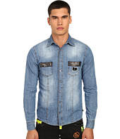 Philipp Plein - Follow Denim Shirt with Studded Pockets
