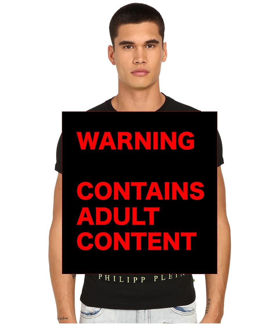 Philipp Plein Fing Rich T Shirt Black/Yellow Mens T Shirt