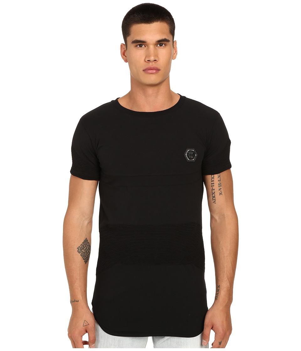 Philipp Plein Exagon Drop Tail T Shirt Black Mens T Shirt