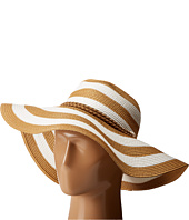 Vince Camuto - Wide Stripe and Rope Floppy Hat