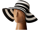Vince Camuto Wide Stripe and Rope Floppy Hat