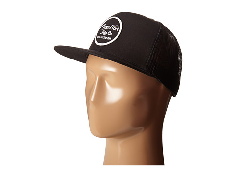 Brixton Wheeler Mesh Cap - Black/Black