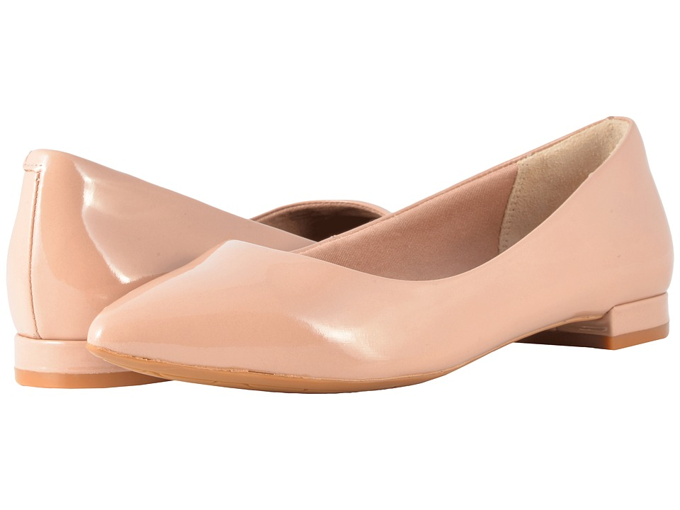 Rockport Total Motion Adelyn Ballet (Warm Taupe Soft Patent) Women's Dress Flat Shoes
