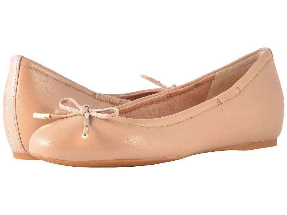 Rockport Total Motion Hidden Wedge Tied Ballet (Warm Taupe Nappa) Flats
