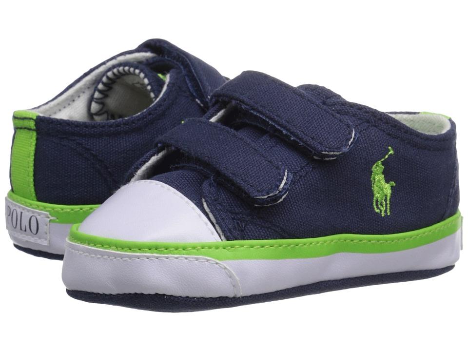 Polo Ralph Lauren Kids - Carson II EZ (Infant/Toddler) (Navy/Green) Boys Shoes