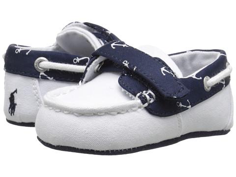 Polo Ralph Lauren Kids Sander EZ (Infant/Toddler) - White/Navy Anchor
