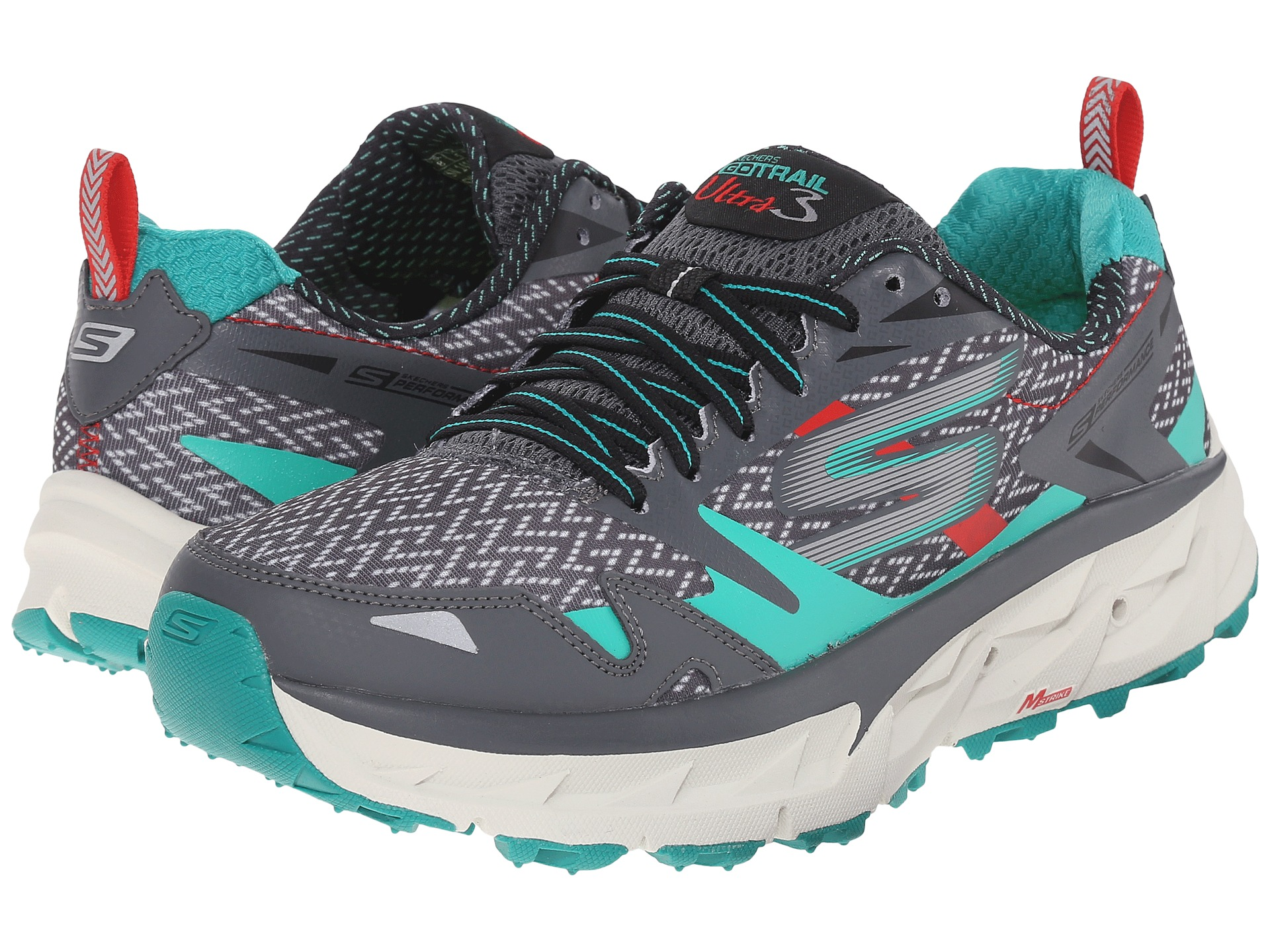 SKECHERS Go Ultra Trail 3 Charcoal/Teal - Zappos.com Free Shipping BOTH Ways