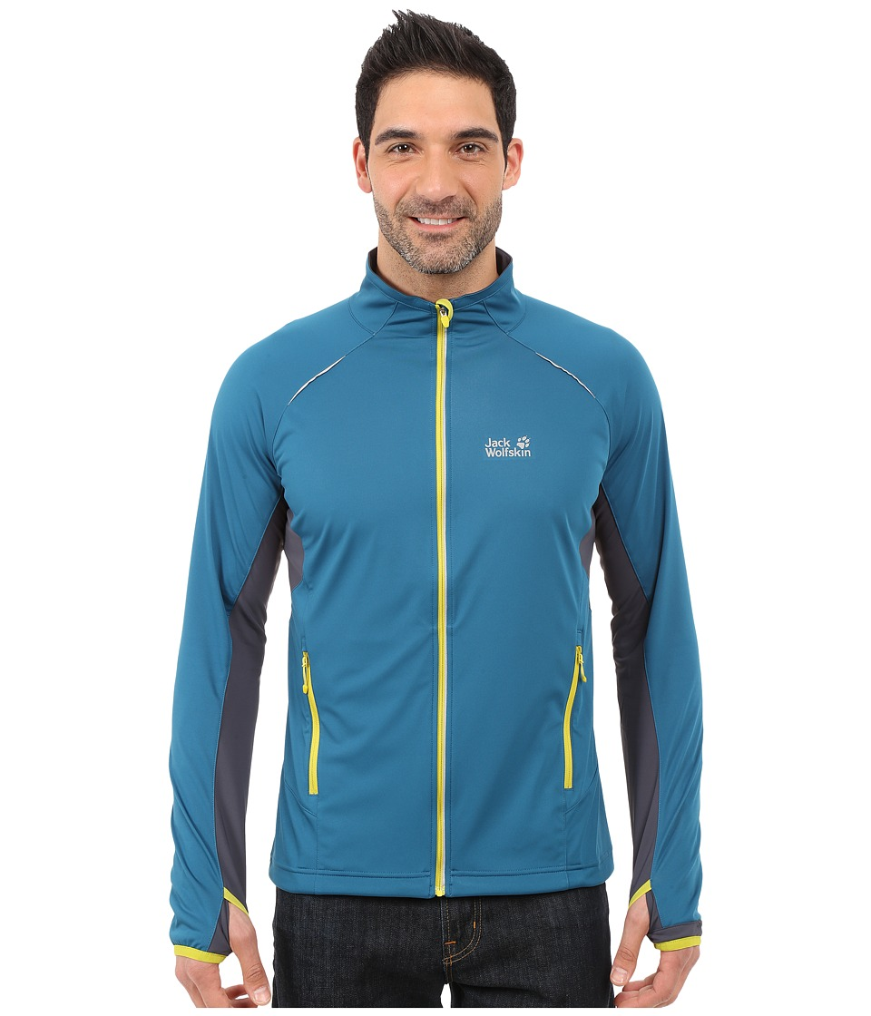 Jack Wolfskin - Exhalation Softshell Jacket (Moroccan Blue) Men
