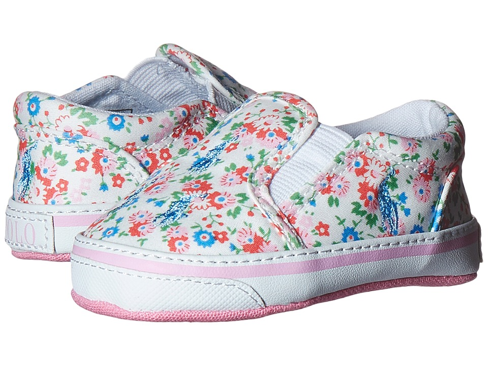 Ralph Lauren Layette Kids Bal Harbour Repeat Infant/Toddler White Mini Floral Girls Shoes