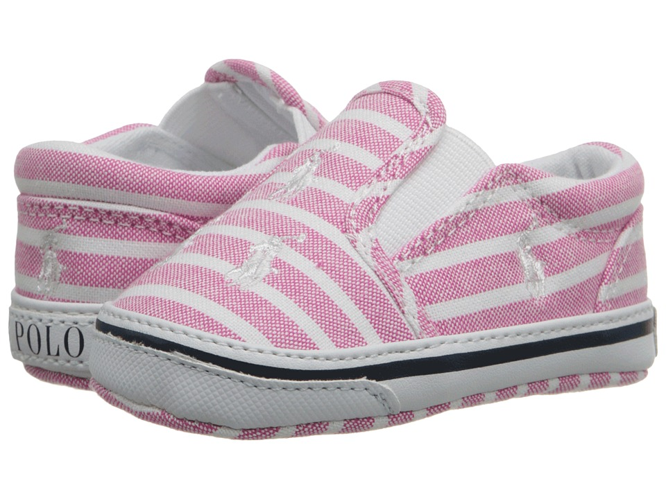 Ralph Lauren Layette Kids Bal Harbour Repeat Infant/Toddler Pink Bangal Stripe Girls Shoes