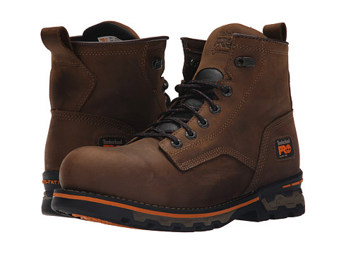Timberland PRO AG Boss Alloy Safety Toe Waterproof Unlined Boot - Brown Distressed Leather