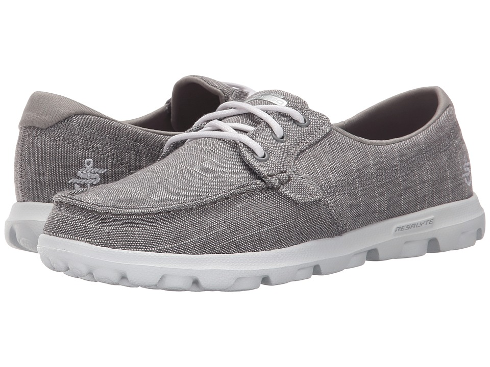 SKECHERS Performance - On The Go - Mist (Grey) Womens Lace up casual Shoes