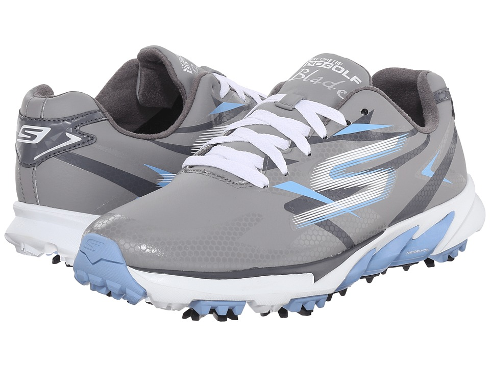 SKECHERS Performance Go Golf Blade Grey/Blue Womens Walking Shoes