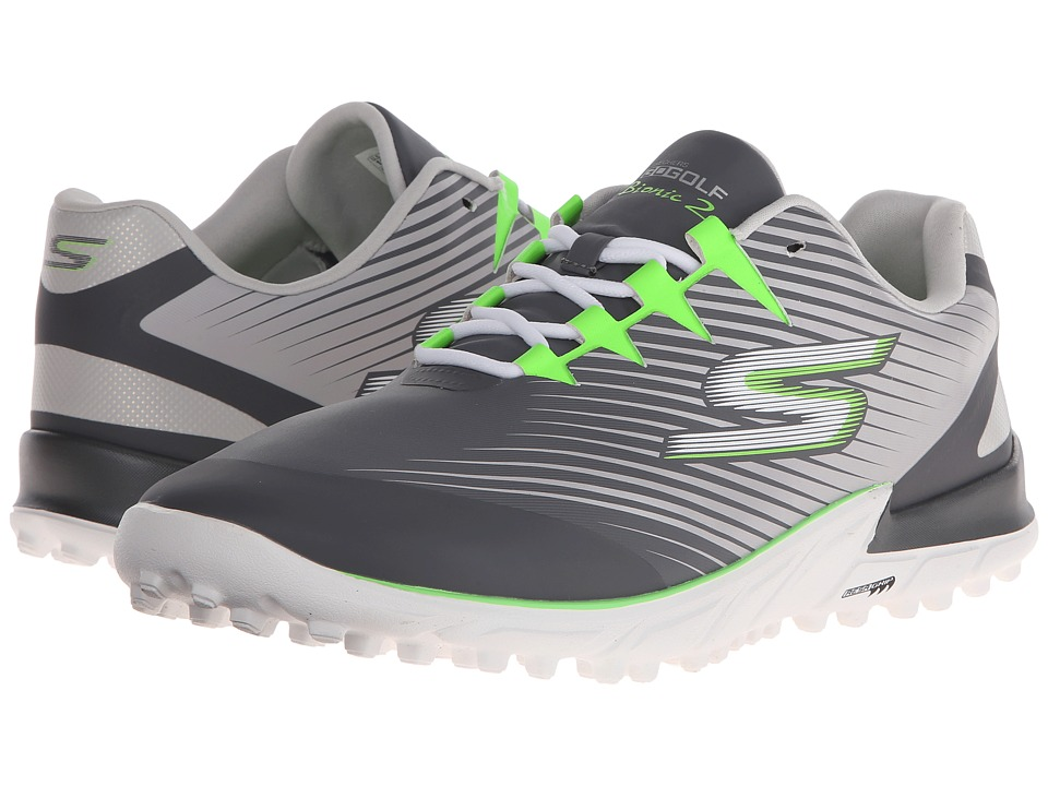 SKECHERS Performance Go Golf Bionic 2 Charcoal/Green Mens Golf Shoes